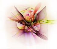 Abstrakt linje rörelse av olika färger, kurvabstraktionsänka Arkivfoto