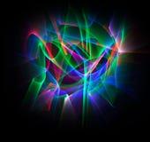 Abstrakt linje rörelse av olika färger, kurvabstraktionsänka Arkivbild