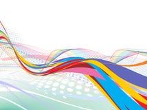 abstrakt linje regnbågewave Royaltyfria Bilder