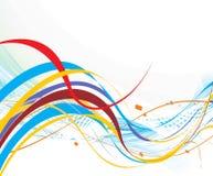 abstrakt linje regnbågewave stock illustrationer