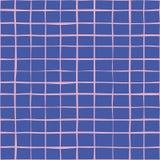 Abstrakt linje sömlös bakgrundsmodell blå pink stock illustrationer