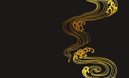 Abstrakt linje sömlös tapet för vattenvåg för konst vektor illustrationer