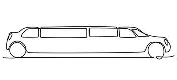 Abstrakt linje teckning för limousine en Arkivbilder