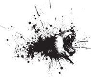 abstrakt lionsprayvektor Arkivbild