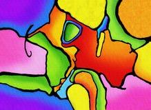 abstrakt livlig färgmålning arkivfoto