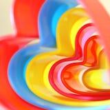 Abstrakt ljus bac för beiga för fyrkant för regnbåge för barn` s mångfärgad Royaltyfria Bilder