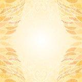 Abstrakt ljus beige blom- lockig kortlodlinje Royaltyfri Bild