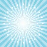 Abstrakt ljus - blå strålar och stjärnabakgrund Cmyk för vektorEPS 10 Royaltyfri Bild