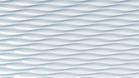 Abstrakt ljus - blåa plast-vågor framförande 3d Fotografering för Bildbyråer