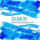 Abstrakt ljus - blått- och celadonfärgpulverfläck Royaltyfria Bilder
