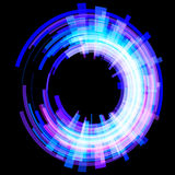 Abstrakt ljus - blåttcirklar på en vinkel raster Fotografering för Bildbyråer