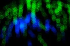 Abstrakt ljus Bokeh bakgrund Suddighetsbild av defocusljus på natten Royaltyfri Fotografi