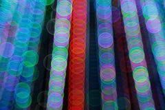 Abstrakt ljus Bokeh bakgrund Suddighetsbild av defocusljus på natten Arkivbild