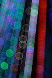 Abstrakt ljus Bokeh bakgrund Suddighetsbild av defocusljus på natten Royaltyfri Bild
