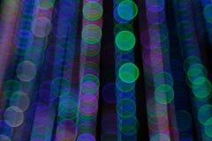 Abstrakt ljus Bokeh bakgrund Suddighetsbild av defocusljus på natten Arkivfoton