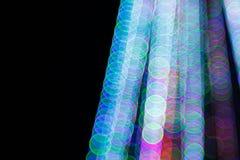 Abstrakt ljus Bokeh bakgrund Suddighetsbild av defocusljus på natten Royaltyfri Foto