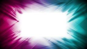 Abstrakt ljus cyan och purpurfärgad glödande video animering royaltyfri illustrationer