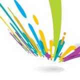 Abstrakt ljus färg rundade formlinjer övergångsperspektivbakgrund med kopieringsutrymme Pop för rastrerad stil för beståndsdel lj royaltyfri illustrationer