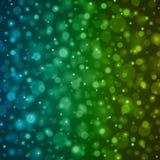 Abstrakt ljus - för Bokeh för blå gräsplan illustration för vektor bakgrund Royaltyfri Bild