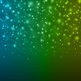 Abstrakt ljus - för Bokeh för blå gräsplan illustration för vektor bakgrund Arkivbilder