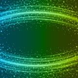 Abstrakt ljus - för Bokeh för blå gräsplan illustration för vektor bakgrund Royaltyfria Bilder