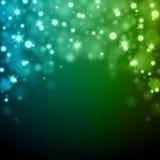 Abstrakt ljus - för Bokeh för blå gräsplan illustration för vektor bakgrund Royaltyfri Foto