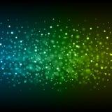 Abstrakt ljus - för Bokeh för blå gräsplan illustration för vektor bakgrund Royaltyfri Fotografi