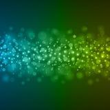 Abstrakt ljus - för Bokeh för blå gräsplan illustration för vektor bakgrund Royaltyfria Foton