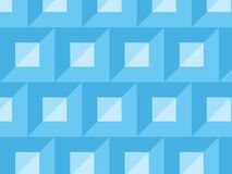 Abstrakt ljus för vektor - blått kvadrerar och triangeltegelplattamodellen vektor illustrationer