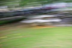 Abstrakt ljus - grön bakgrund för accelerationshastighetsrörelse Arkivfoton