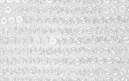 Abstrakt ljus illustration som göras av tyg med paljetter, grå bakgrund för tapeten, baner royaltyfria foton