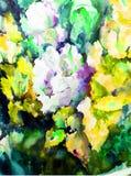 Abstrakt ljus kulör dekorativ bakgrund Handgjord blom- modell Den härliga mjuka romantiker blommar ängen Royaltyfria Bilder