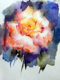 Abstrakt ljus kulör dekorativ bakgrund Handgjord blom- modell Härliga mjuka romantiska magiblommor som göras i Arkivfoton