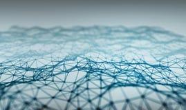 Abstrakt ljus - låg poly bakgrund för blå polygonal lättnad Fotografering för Bildbyråer