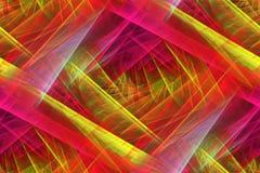 Abstrakt ljus med härliga färgrika strålar Arkivbild