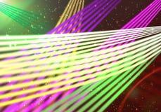 abstrakt ljusa linjer Arkivbild