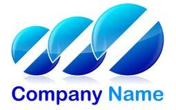 Abstrakt logo Fotografering för Bildbyråer