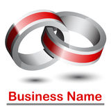 abstrakt logo 3d Royaltyfria Bilder
