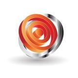 abstrakt logo 3d Arkivbild