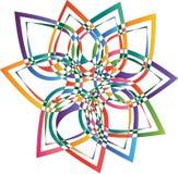 Abstrakt logo för blomma Arkivbilder
