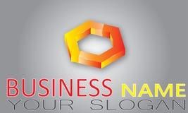 abstrakt logo för element för bakgrundsblackföretag Arkivfoton