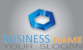 abstrakt logo för element för bakgrundsblackföretag Arkivbild
