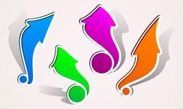 Abstrakt logo för pil för teckenpekaremarkör Arkivbild