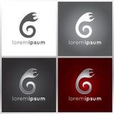 Abstrakt logodesign Arkivbild
