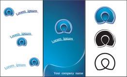 Abstrakt logomall Arkivfoto