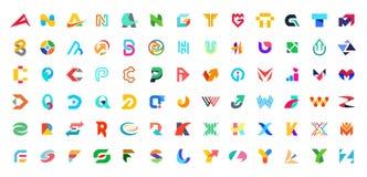 Abstrakt logosamling med bokstäver vektor illustrationer