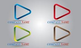 abstrakt logoset stock illustrationer