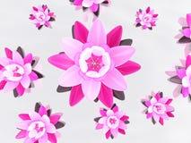 abstrakt lotusblomma 3d vektor illustrationer