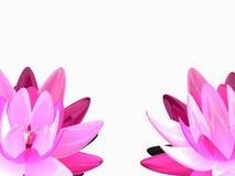 abstrakt lotusblomma 3d stock illustrationer