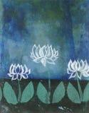 Abstrakt lotusblommablomningar Fotografering för Bildbyråer